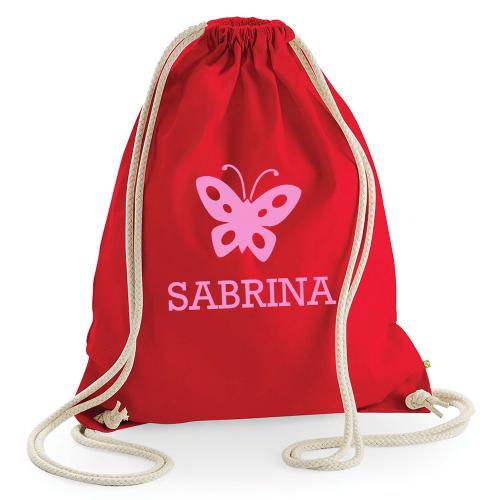 Personalisierter Kinder-Rucksack rot