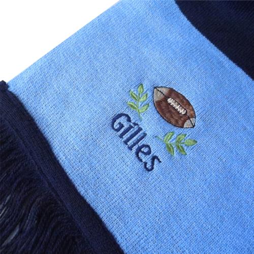 Personalisierter Schal zweifarbig Details