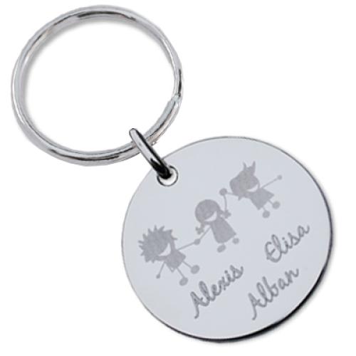 Personalisierter Schlüsselanhänger aus Silber