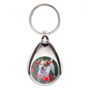 Personalisierter Foto-Schlüsselanhänger mit Einkaufschip