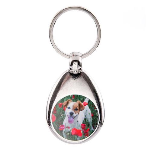 Personalisierter Schlüsselanhänger mit Einkaufschip Foto