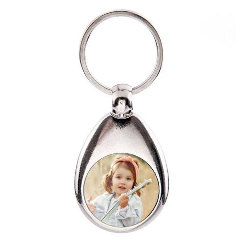 Personalisierter Schlüsselanhänger mit Einkaufschip mit Foto