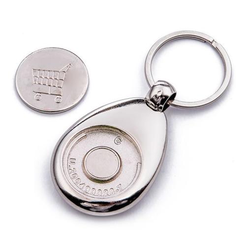 Personalisierter Schlüsselanhänger mit Einkaufschip Rückseite