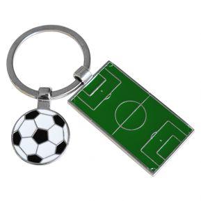Personalisierter Schlüsselanhänger Fußballplatz