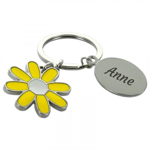 Personalisierter Schlüsselanhänger Gänseblümchen