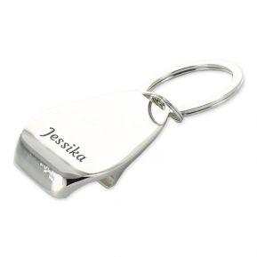 Gravierter Schlüsselanhänger - Flaschenöffner