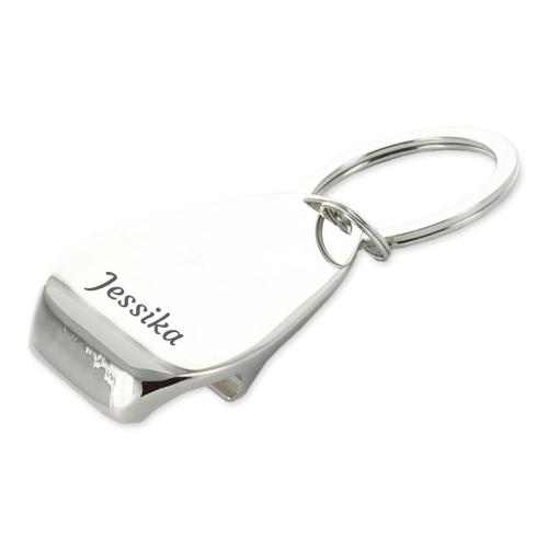 Personalisierter Schlüsselanhänger mit Flaschenöffner