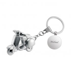 Personalisierter Schlüsselanhänger Roller