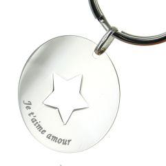 Personalisierter Schlüsselanhänger - Stern