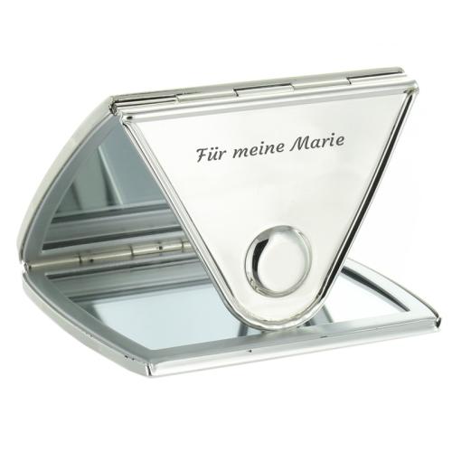 Personalisierter Spiegel für die Handtasche - offen