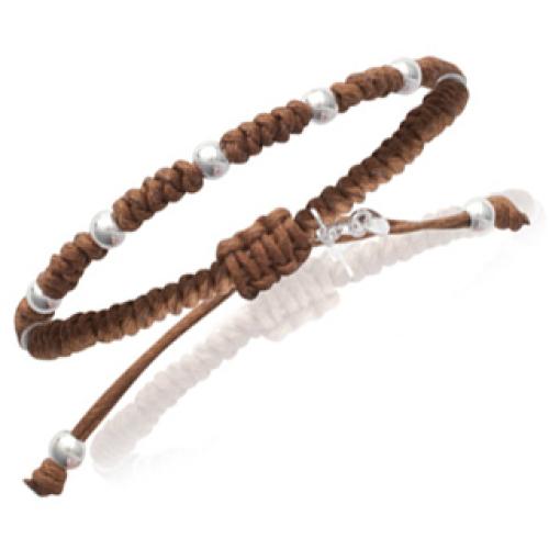 Personalisiertes Armband Grigri braun