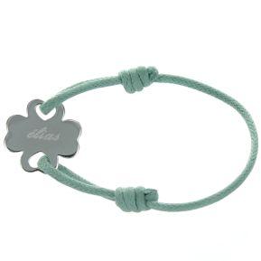 Personalisiertes Armband schönes Kleeblatt