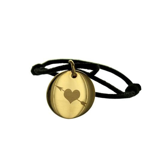 Personalisiertes Armband uns zwei vergoldet