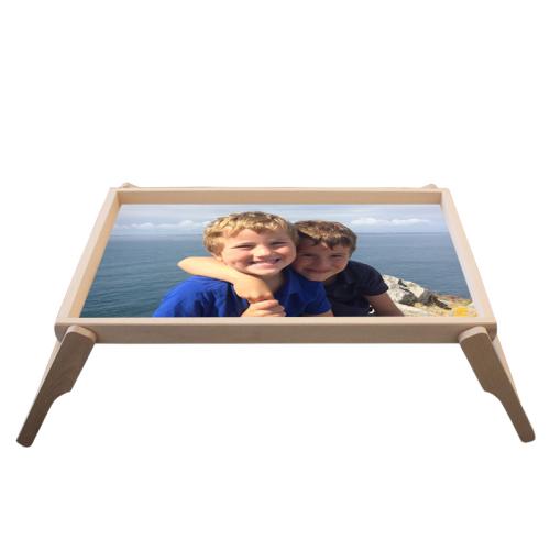 Personalisiertes Foto-Tablett fürs Bett
