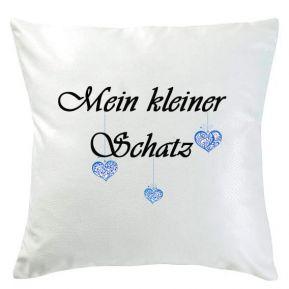 Personalisiertes Kissen - kleine Herzen