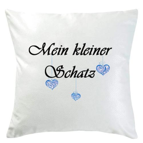 Personalisiertes Kissen kleine Herzen