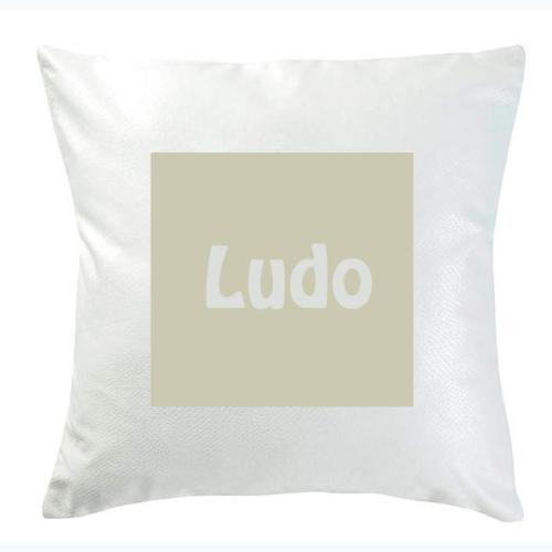 Personalisiertes Kissen Quadrat beige