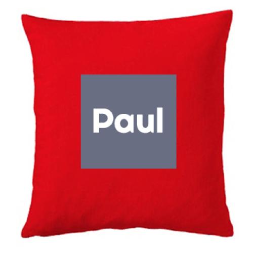 Personalisiertes Kissen Quadrat rot