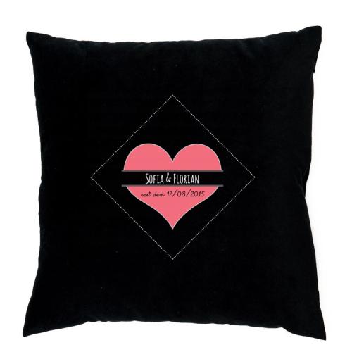 Personalisiertes Kissen romantisches Herz