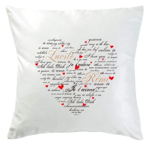 Personalisiertes Kissen Valentinstag