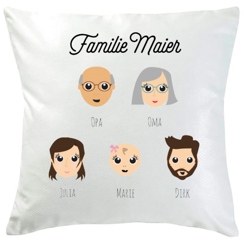 Personalisiertes Kissen We Are Family 2 Personen