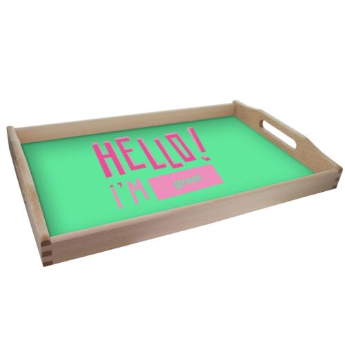 Personalisiertes Tablett HELLO