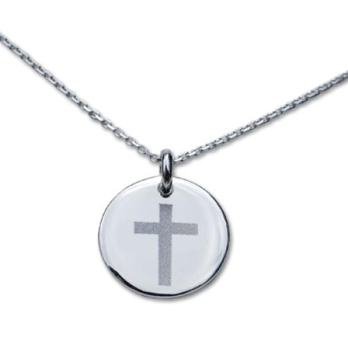 Personalisiertes Taufmedaillon Kreuz