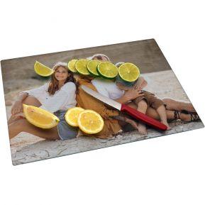 Personalisiertes Glasschneidebrett mit Foto