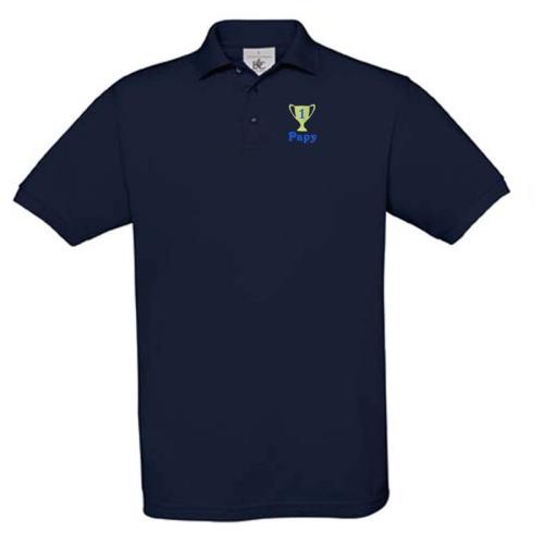 Poloshirt mit individueller Bestickung marine