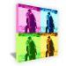 Bild Pop Art Quadrat - vier Fotos