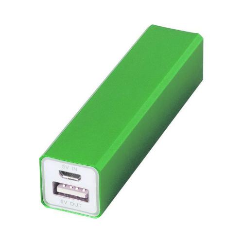 Gravierter Powerbank grün