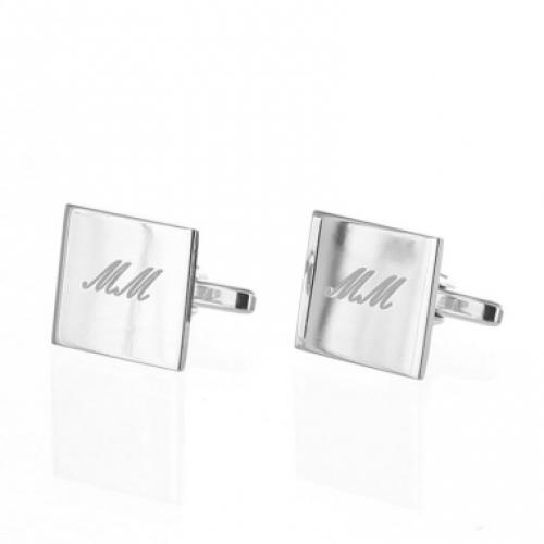 Quadratische Manschettenknöpfe aus Silber
