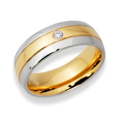 Ring Zirkonia mit Gravur 9081