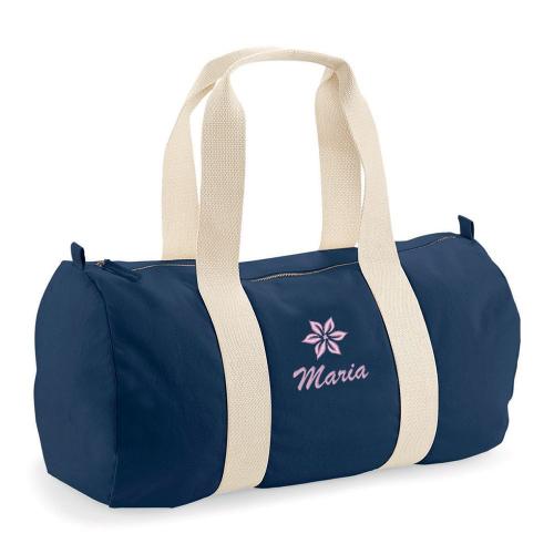 Sporttasche mit besticktem Namen und Motiv Mädchen