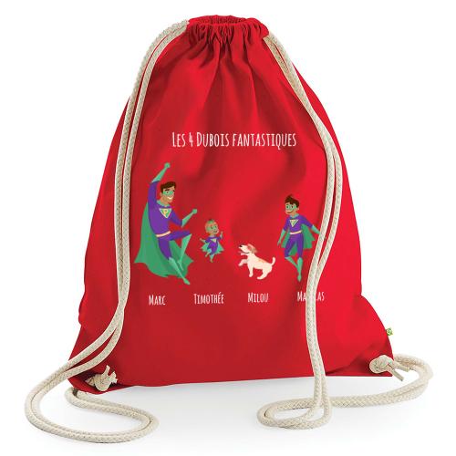 Freizeittasche personalisiert Superhelden