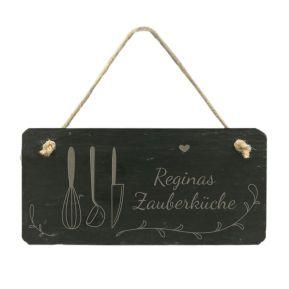 Personalisierte Schieferplatte Küche
