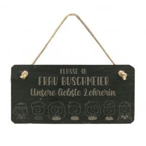 Personalisierte Schieferplatte für Lehrerin