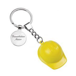 Schlüsselanhänger Bauhelm mit Gravur