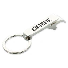 Schlüsselanhänger Flaschenöffner - graviert