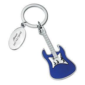 Schlüsselanhänger Gitarre mit Gravur