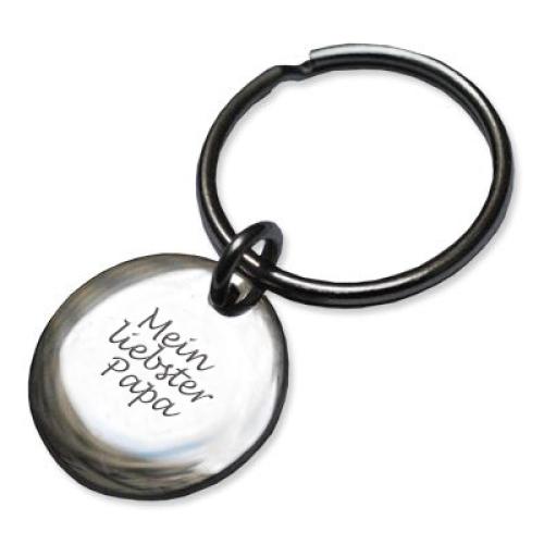 Schlüsselanhänger kleiner Kreis mit Gravur