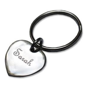 Schlüsselanhänger kleines Herz mit Gravur