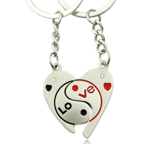 Schlüsselanhänger - Love - Ying & Yang