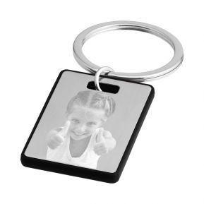 Schlüsselanhänger mit Fotogravur Rechteckig