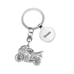 Schlüsselanhänger Motorrad mit Gravur