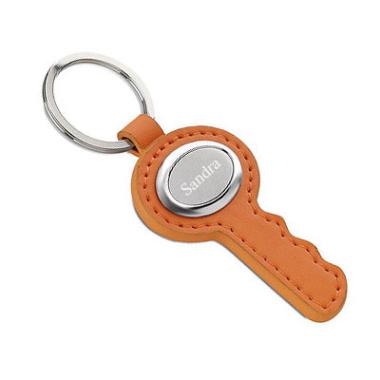 Schlüsselanhänger orange mit Gravur