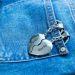 Partner-Schlüsselanhänger Herzen in Hosentasche