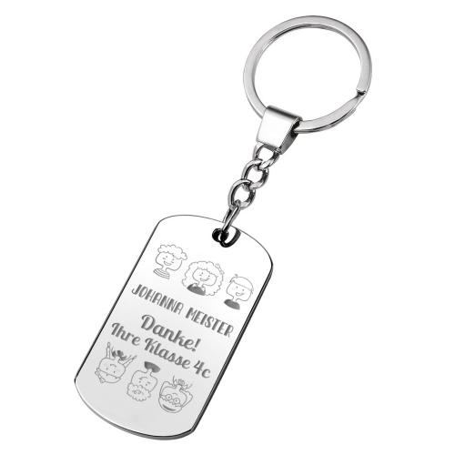 Schlüsselanhänger Platte Lehrer(in)