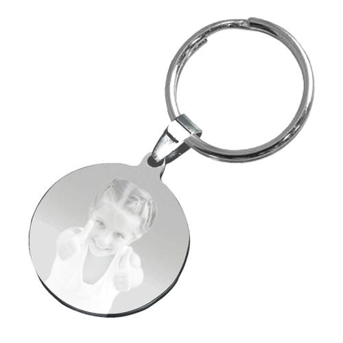Schlüsselanhänger rund mit Fotogravur