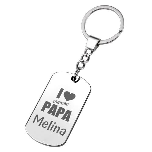 Personalisierter Schlüsselanhänger für Papa I love